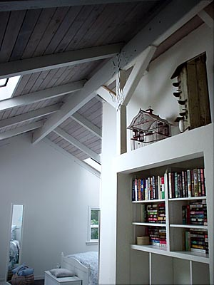 ceiling of mendocino rental cottage