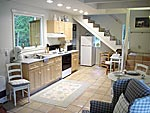 kitchen of mendocino vacation rental
